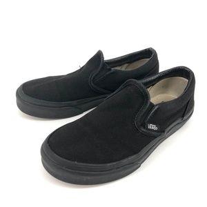 Vans slip ons all black size 1 (boy)